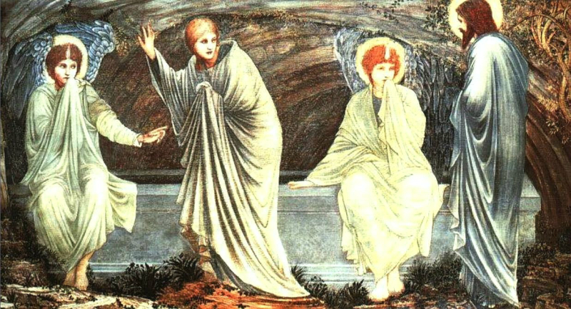 Easter-morning-BurneJones-Oil-on-wood