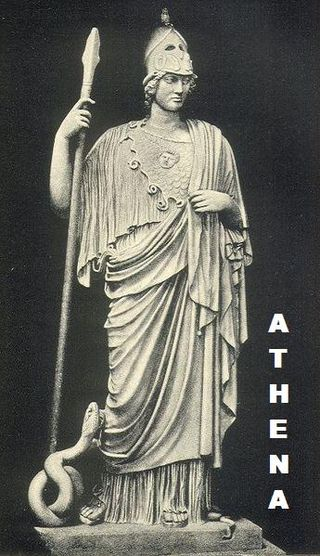 ATHENA AND THE SERPENT